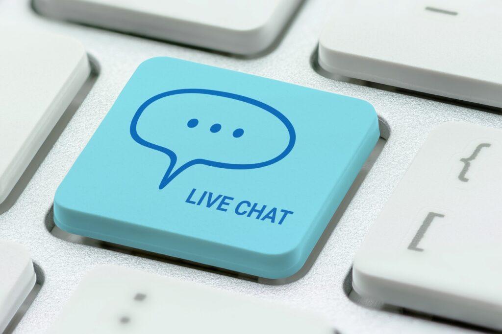 toets op toetsenbord live chat