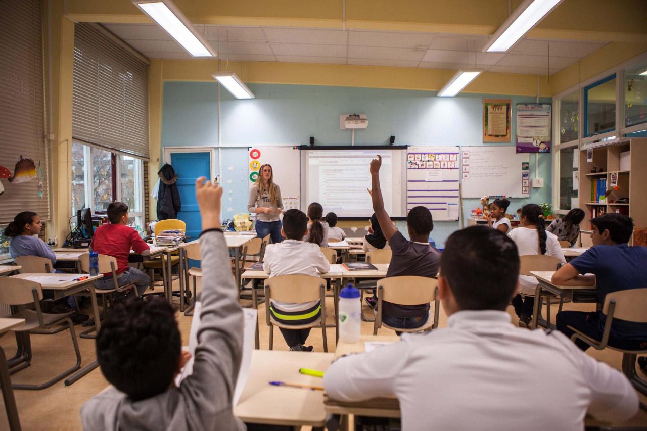 Klaslokaal met leerlingen
