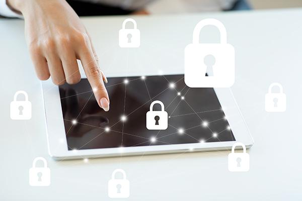 data bescherming verbeelden met iPad
