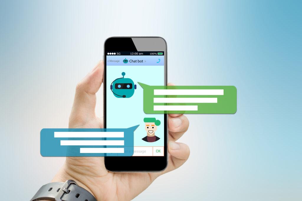 Telefoon met een chatbot