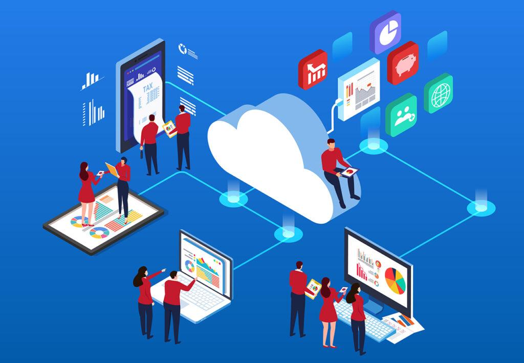 Weergave van cloud computing