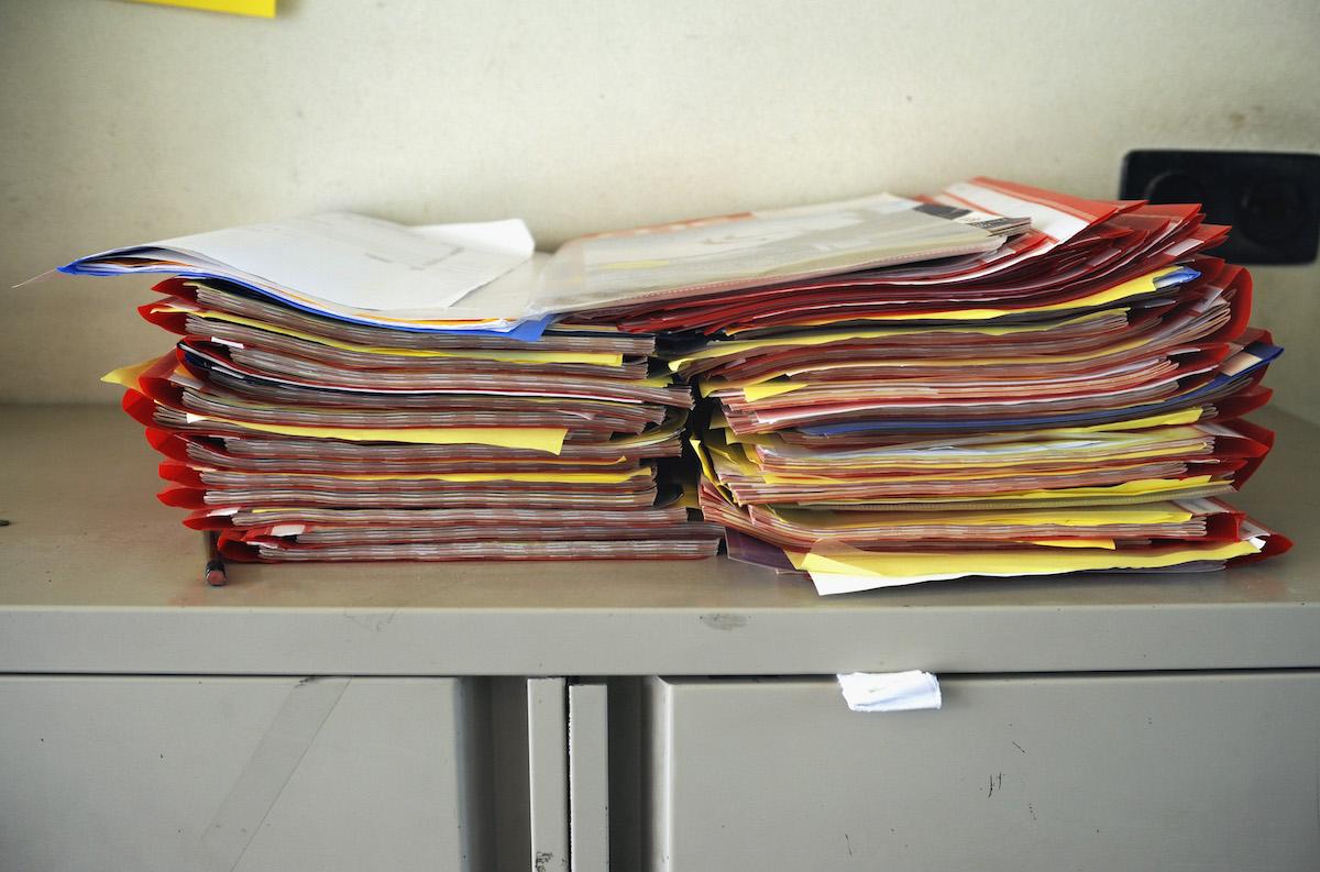 Dossiers van leerlingen op het St. Nicolaaslyceum in Amsterdam