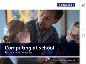 Computing at school - een jaar na de invoering