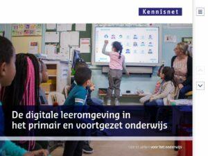 De digitale leeromgeving in het primair en voortgezet onderwijs