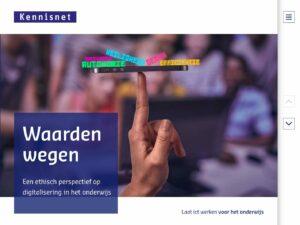 Waarden wegen - Een ethisch perspectief op digitalisering in het onderwijs