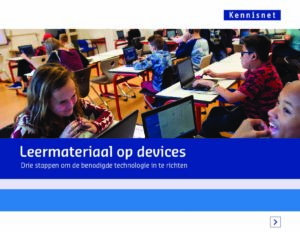 Leermateriaal op devices