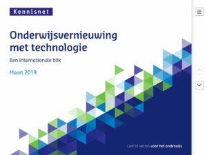 Onderwijsvernieuwing met technologie. Een internationale blik