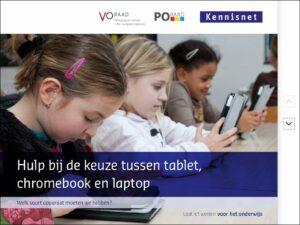 Hulp bij de keuze tussen tablet, chromebook en laptop
