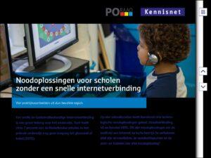 Noodoplossing voor scholen zonder snelle internetverbinding